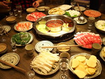 Chinese hotpot Royalty Free Stock Photo