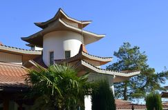 Chinese house. House in the Chinese style Stock Photo