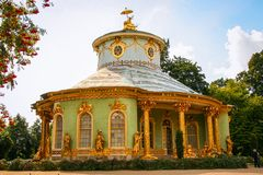 Chinese house in Sanssouci. The Chinese House as tea house in Sanssouci Park in Potsdam Stock Image
