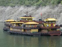 Chinese house boats Royalty Free Stock Photography