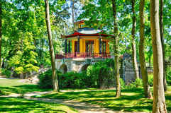 Chinese house of Cassan in L Isle Adam Royalty Free Stock Photo