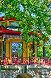 Chinese house of Cassan in L Isle Adam Stock Photography
