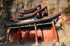 Chinese house in a mountain Royalty Free Stock Photo