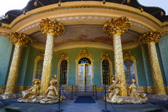 Chinese house in Sanssouci Park. Potsdam, Germany - August 27 2016: Chinese house in Sanssouci Park, famous landmark of Potsdam, summer time Stock Image