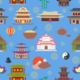Chinese house seamless pattern Stock Image