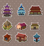 Chinese house stickers stock illustration