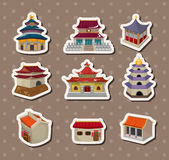 Chinese house stickers vector illustration