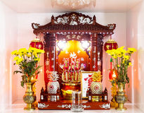 Chinese household shrine Stock Photos