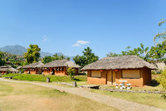 Chinese houses made of clay in hill at Santichon village , Pai c Stock Photography