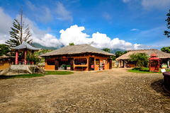 Chinese houses  Santichon village , Pai , Thailand Stock Photo
