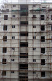 Chinese housing construction. Tower block of Chinese apartments  under construction Royalty Free Stock Photos
