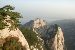 Chinese Huashan mountain Stock Photos