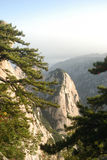 Chinese Huashan mountain Stock Photography