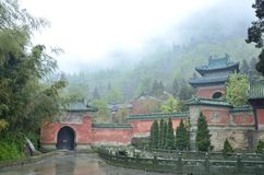 Chinese Hubei Wudang Mountains Stock Photography