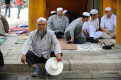 Chinese Hui old man Stock Images