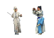 Chinese Hui opera actors Royalty Free Stock Photography