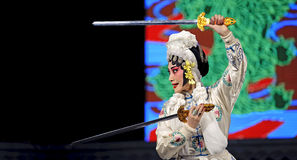 Chinese Hui opera actress, ,the role of Dao Ma Dan Royalty Free Stock Photo
