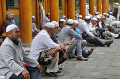 Chinese hui people. In Xining ,Qinghai,China.the Hui are the most populous of China's Muslim peoples Royalty Free Stock Images
