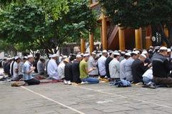 Chinese hui people worship stock photography