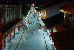 Chinese huili old town at night Royalty Free Stock Images
