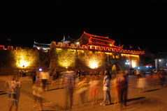Chinese huili old town at night Royalty Free Stock Photos