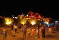 Chinese huili old town at night Royalty Free Stock Photos