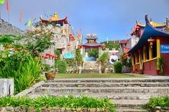 Chinese huizen bij het Culturele Dorp van Yunnan Stock Foto