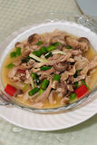 Chinese Hunan cuisine. Of pig's intestines Royalty Free Stock Image
