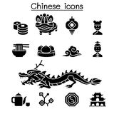 Chinese icon set. Vector illustration graphic design Stock Image