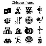 Chinese icon set. Vector illustration graphic design Stock Images