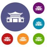 Chinese icons set Stock Photography