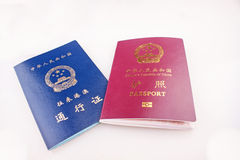 Chinese identifications Stock Images