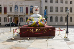 Chinese idol. Advertising Meissen porcelain. Royalty Free Stock Photos