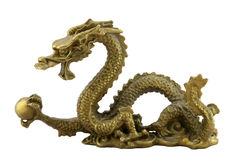 Chinese imperial dragon. Isolated on white Royalty Free Stock Photos
