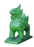 Chinese Imperial Lion Statue, Isolated on white background Royalty Free Stock Photos