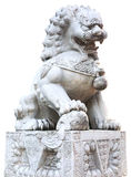 Chinese imperial lion statue Stock Photo