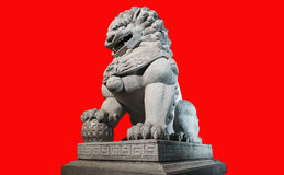Chinese Imperial Lion Statue Stock Photos