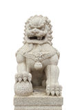Chinese Imperial Lion Statue on white background Royalty Free Stock Photos