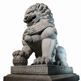Chinese Imperial Lion Statue. Royalty Free Stock Photography