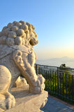 Chinese Imperial stone Lion Royalty Free Stock Photo
