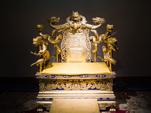 Chinese Imperial throne Royalty Free Stock Images