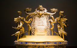 Chinese Imperial throne Stock Photo