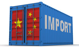 Chinese imports Stock Photo