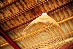 Chinese Incense. A circle chinese incense in a old temple royalty free stock photography