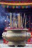 Chinese Incense. In a temple Royalty Free Stock Photo