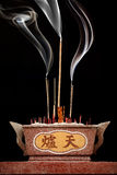 Chinese incense burner. Chinese decorative incense burner with chinese characters stock image