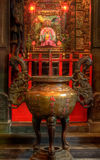 An chinese incense burner and god Royalty Free Stock Images