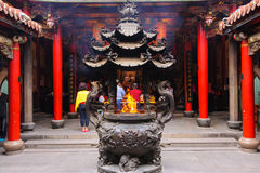 Chinese incense burner at the temple Royalty Free Stock Photography