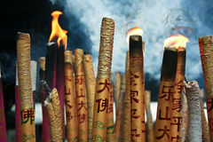 Chinese Incense Burning Stock Images