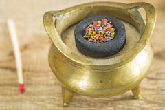 Chinese incense pot Royalty Free Stock Image